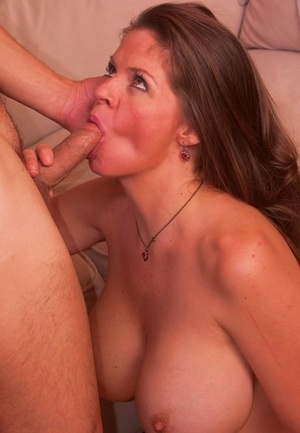 Big titted cougar June Summers concludes fucking her fucktoy man with a titjob