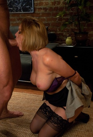 Trimmed husband ties up bootylicious blonde  Krissy Lynn to fuck her in asshole
