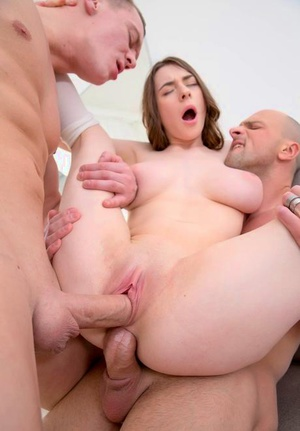 Trampy Clany gets analized and facialed in a DP threesome