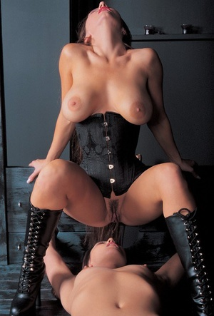 Sapphic fetish sluts Penny & Adrianna loving some kinky sex games