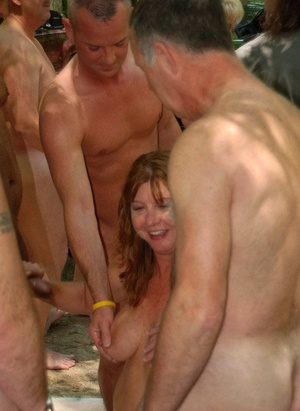 Older American swingers from get nailed and jizzed on in the shade