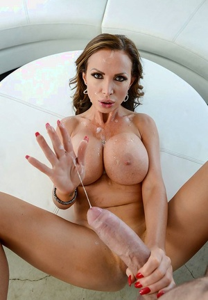 Big boobed MILF Nikki Benz having shaved cooter penetrated by large cock