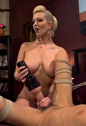 Desirable Cherry Torn loves to tease her man with some sex toys