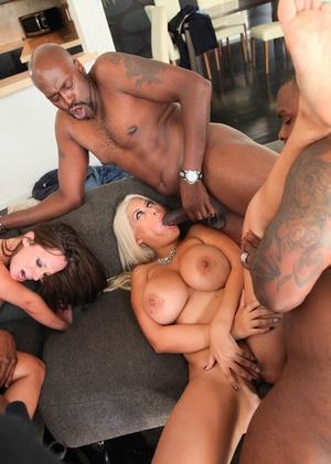 Super sexy pornstar Bridgette B loves interracial fuck in steamy groupsex