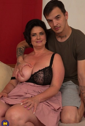 Yam-sized boobed mature woman cheats on her husband with a much younger guy