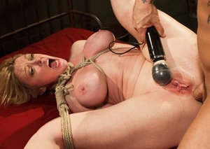 Bitchy bound MILF Dee Williams smashed really stiff in the asshole