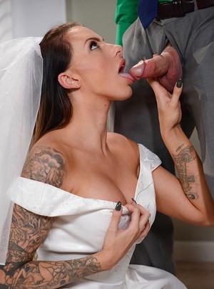 Inked bride Juelz Ventura takes an anal invasion creampie on wedding night fuck