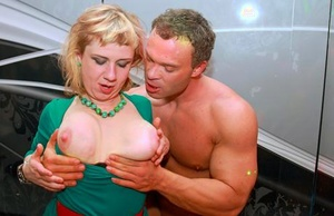 European females can't resist the hunky male strippers swell dicks