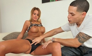 Busty college girl Jessica Nyx gets fucked rock hard during the spring break