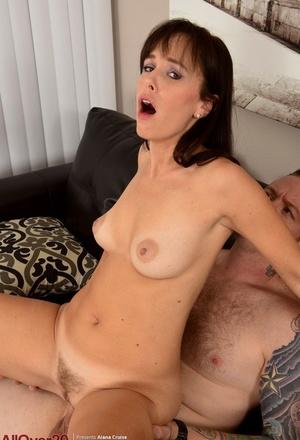 30 plus housewife Alana Cruise gets seduced while doing ironing