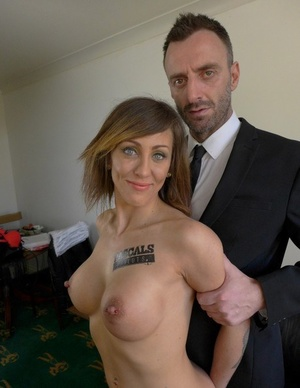 Dirty Euro MILF shows her big juggs and hot tattooed body with pierced puffies