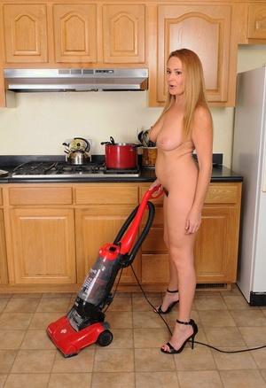 Plump horny wife Elexis Monroe toys hairy muff & milks big tits with vacuum