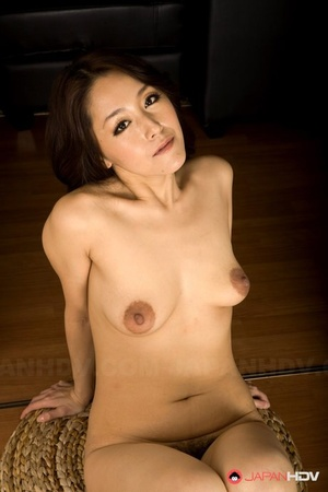 Asian Mummy Nao Kato gets naked and displays her saggy boobs & hairy snatch