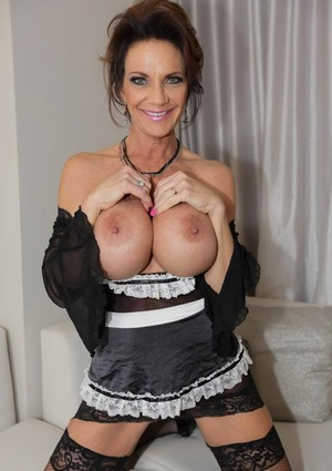 Mature maid with big tits gets butt screwed by her employer's big black dick