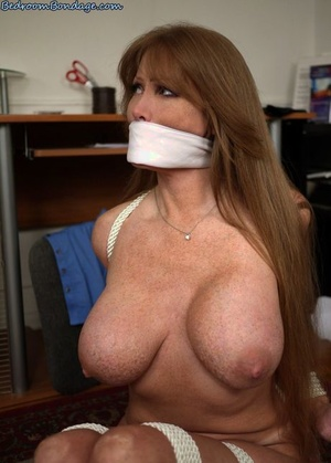 Busty females Darla Crane & Ariella Ferrera are tied up with rope and gagged