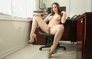 Dame professor Chanel Preston strips naked in her office at end of the day