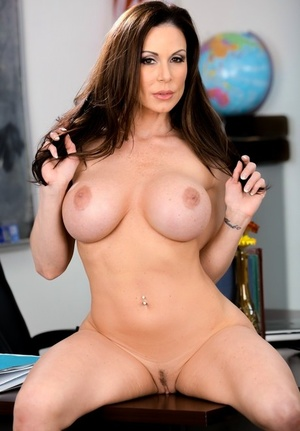 Fat titted teacher Kendra Lust peels off and sucks the jizz from a student's dick