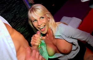 Party girls unleash their pent up sexual frustrations upon masculine strippers