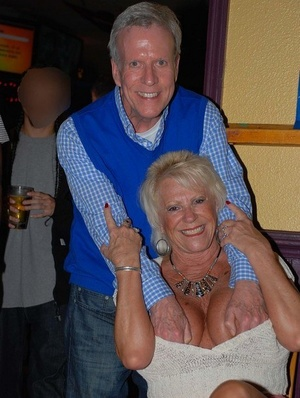 Mature dame Tracy Gobble introduces her swinging friends at a party