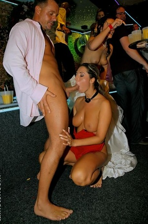 Drunk damsels at a bridal reception go crazy over the masculine strippers