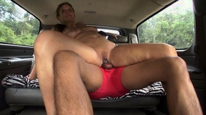 Inexperienced girl Kloe Joy hops in a vehicle for sex with a stranger
