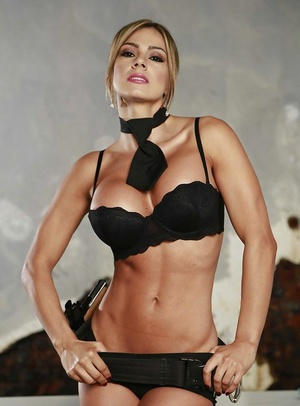 Extraordinaire tanned Latina Esperanza Gomez demonstrates her big tits