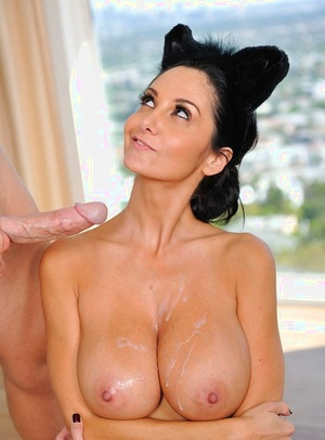 Decent female with thick tits Ava Addams plays the role of blowjob whore