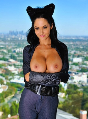 Sexy cat-woman with big baps Ava Addams does magnificent things tonight
