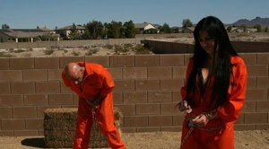 Nasty runaway Kerry Louise taunts her pierced honeypot with a big prick