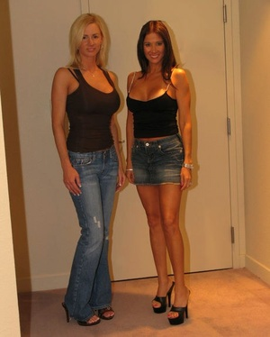 Bisexual housewife Naughty Allie goes lesbian with a beautiful girl